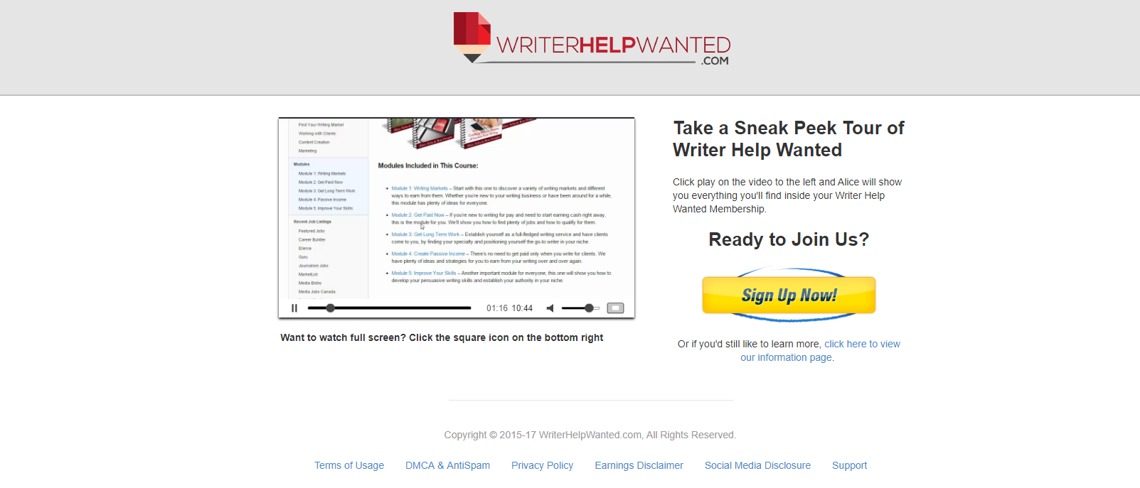 Find writing jobs online