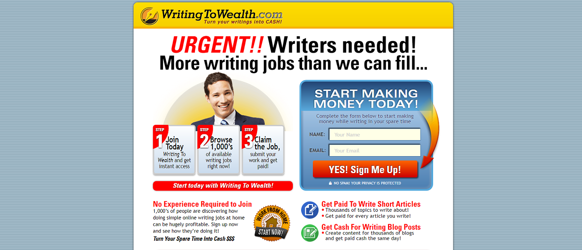 Earn money as a writer